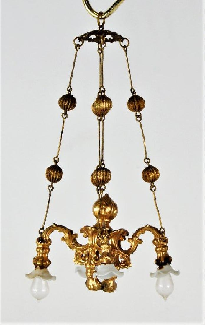 Antique Dollhouse Ormolu Chandelier Miniature