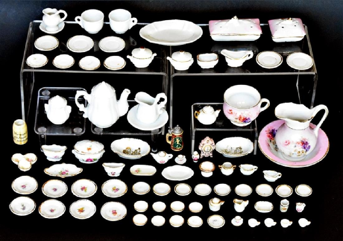 Large Lot of Doll & Dollhouse China Miniatures
