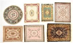 Seven Dollhouse Carpets Miniatures