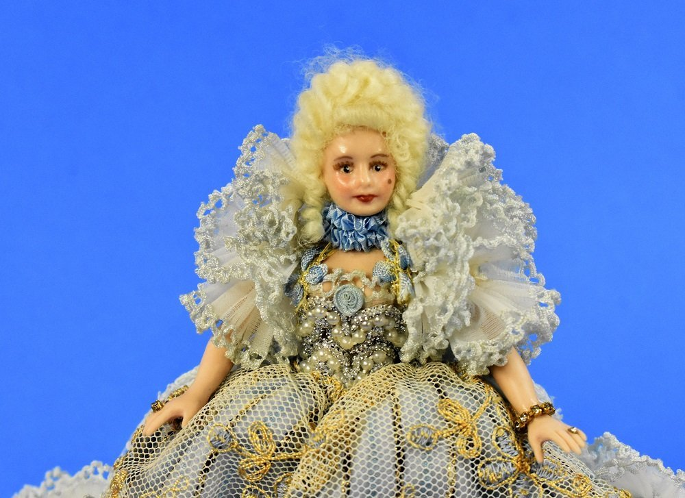Artisan Bisque Dollhouse Doll Miniature - 5