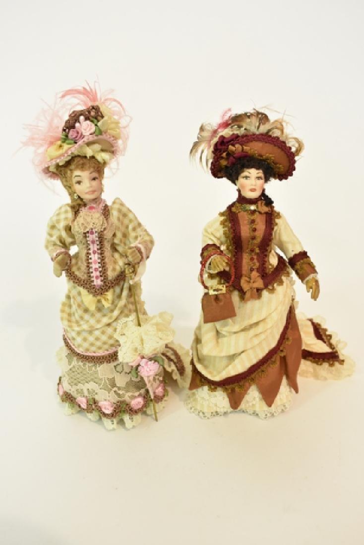 Two Artisan Dollhouse Bisque Dolls Miniatures