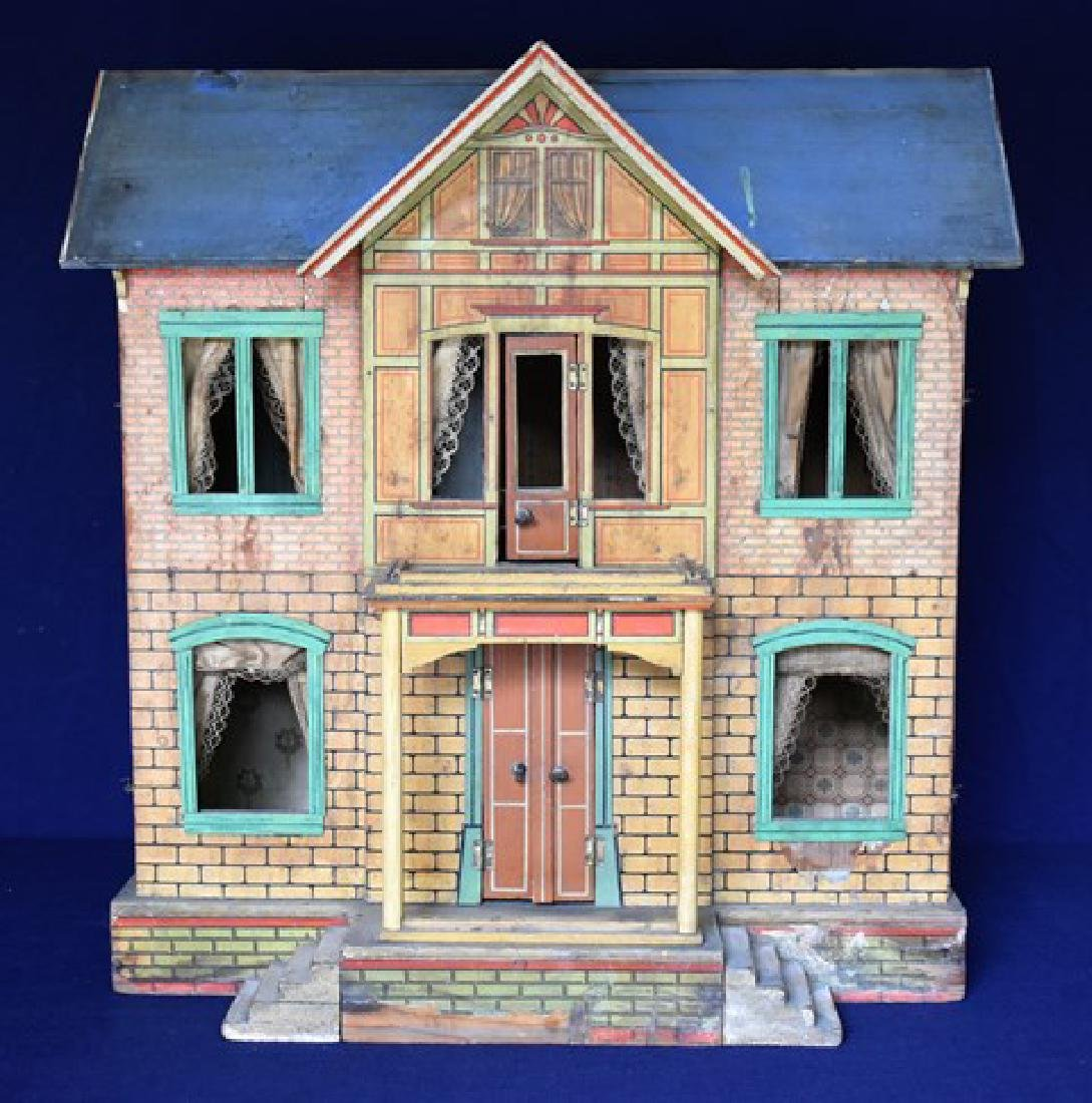 Antique Gottschalk Blue Roof Dollhouse