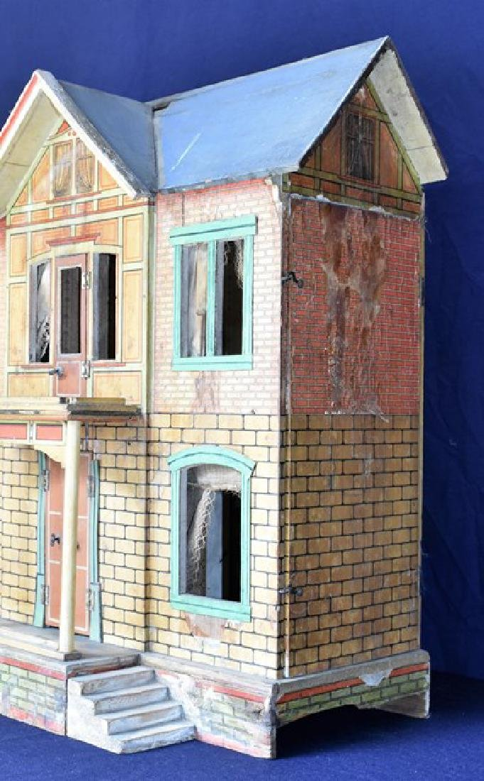 Antique Gottschalk Blue Roof Dollhouse - 2