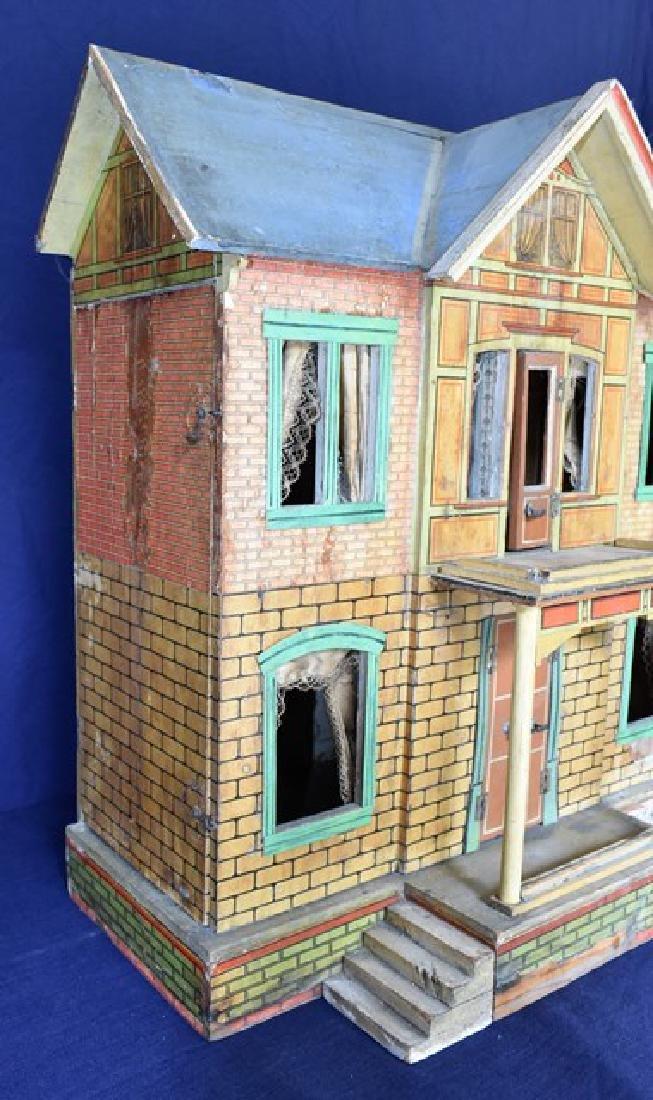 Antique Gottschalk Blue Roof Dollhouse - 3