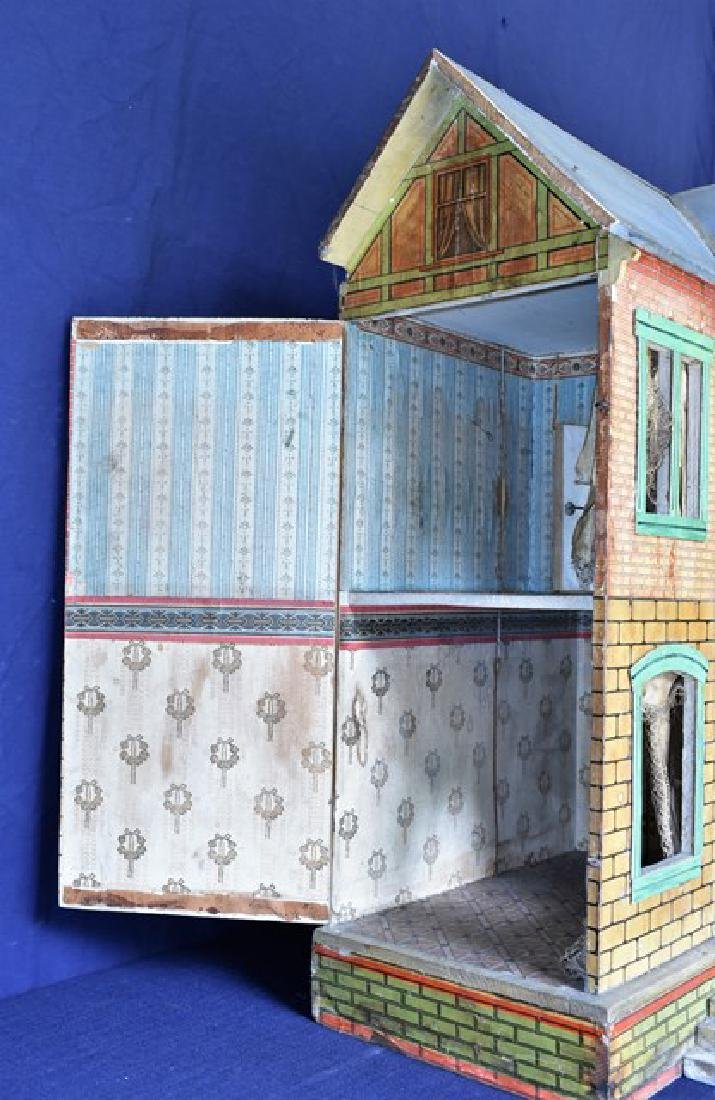 Antique Gottschalk Blue Roof Dollhouse - 4
