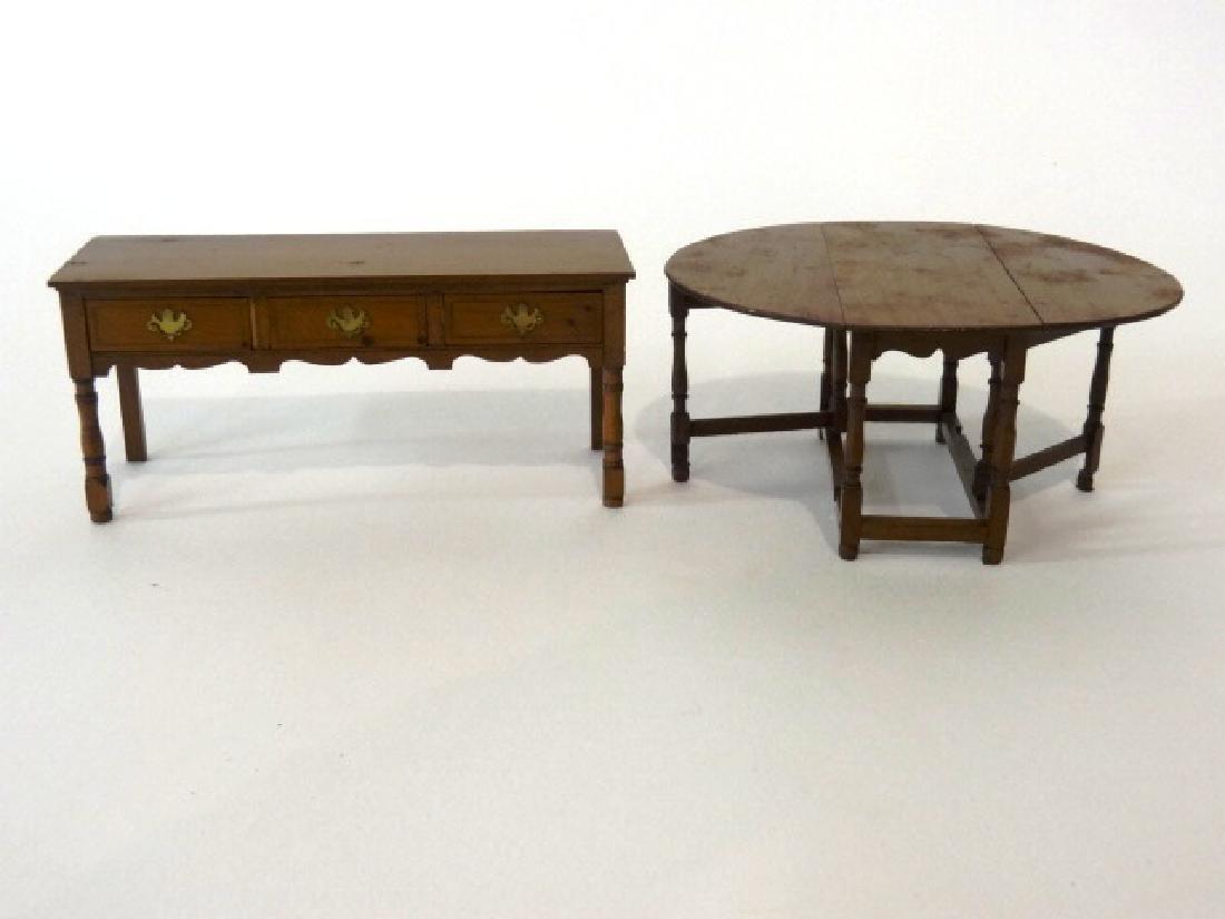 Dollhouse Paul Ki-Kydd Table & Sideboard Miniatures