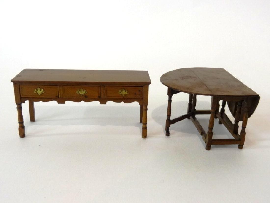 Dollhouse Paul Ki-Kydd Table & Sideboard Miniatures - 2