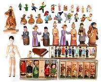 Vintage Carved Wood Toys Miniatures