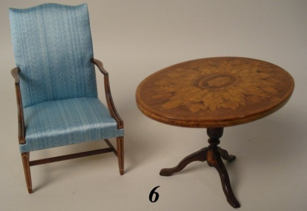 6: Crawford Chair, Merrill Table