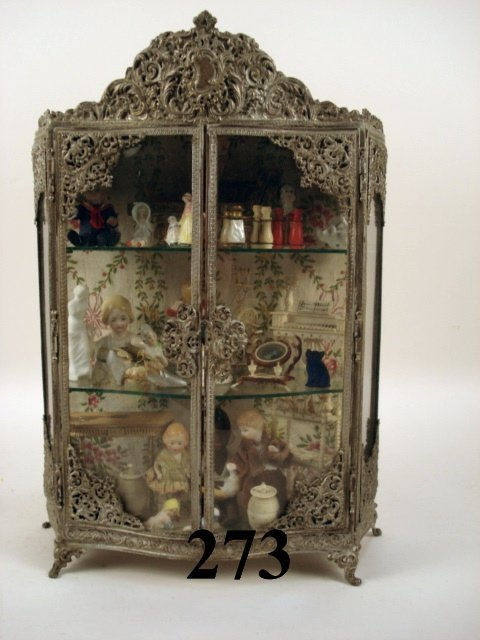 273: Miniature Ornate Silver Curio
