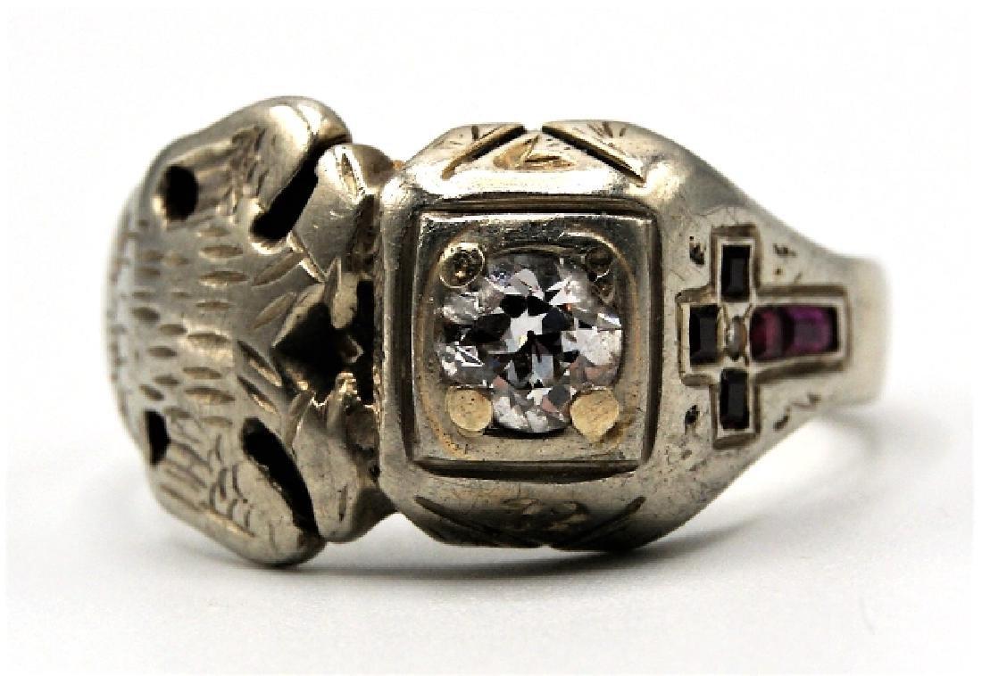 18K Gold & Diamond Masonic Ring