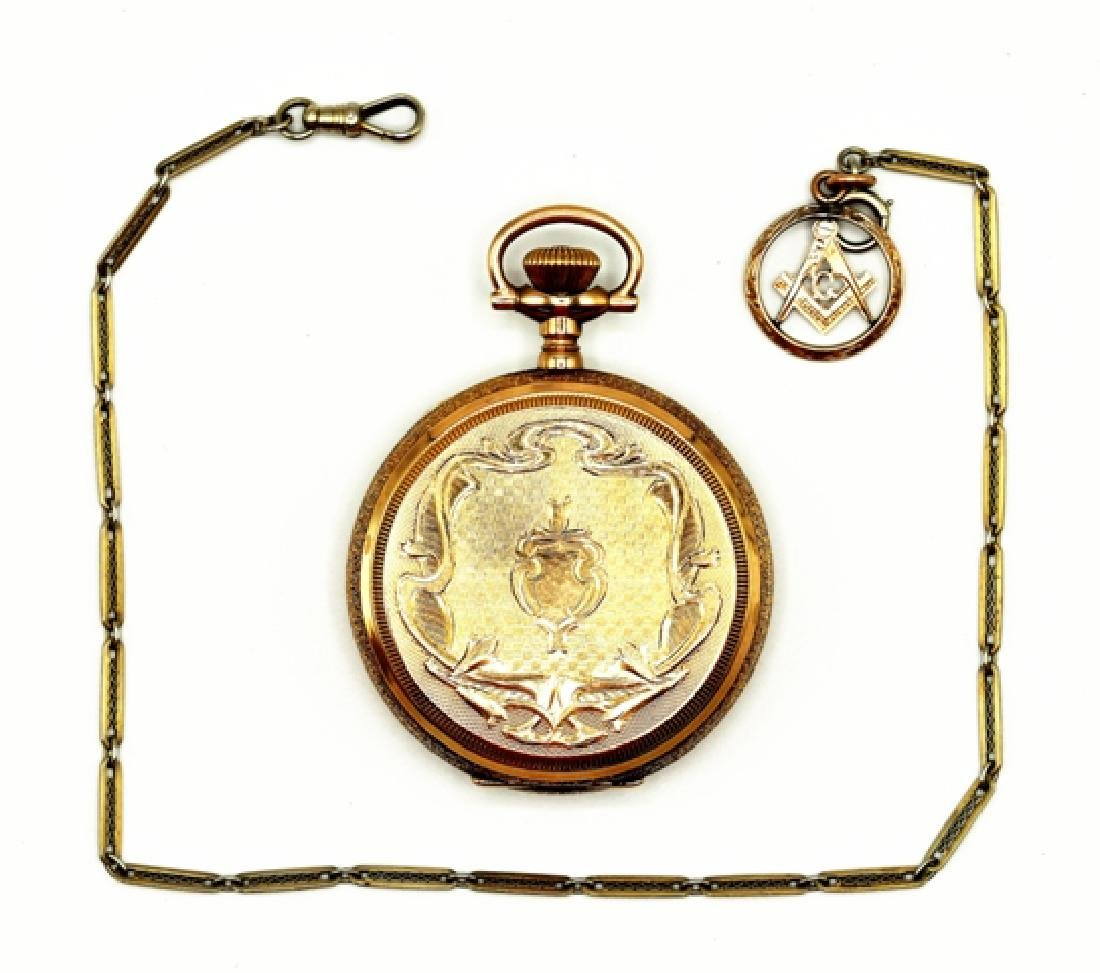 Waltham Pocket Watch & 18K Chain
