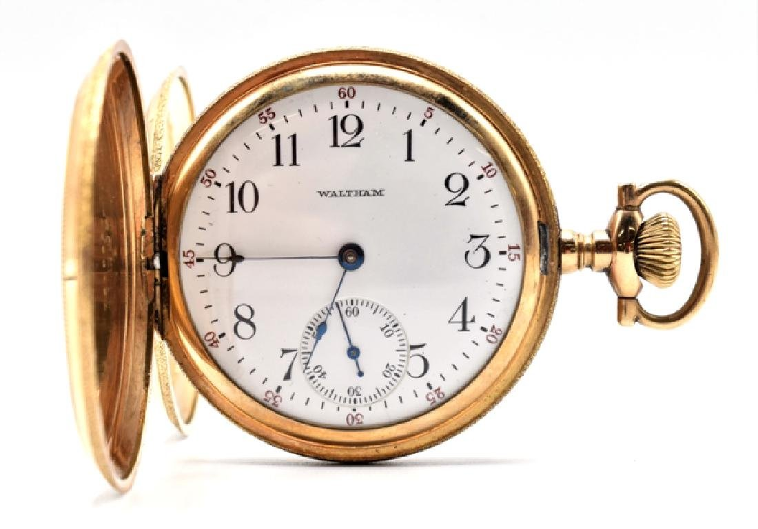 Waltham Pocket Watch & 18K Chain - 2