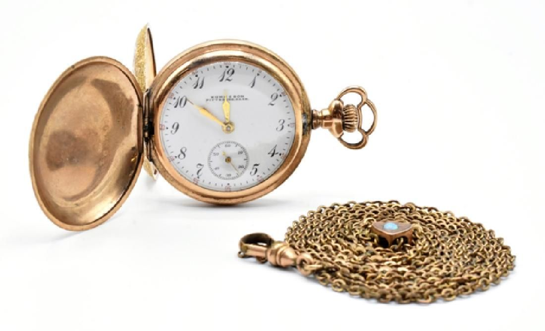 Lady's Elgin Pocket Watch & Chain