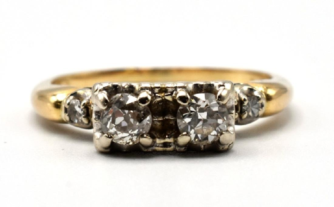 14K Gold and Diamond Lady's Ring - 2