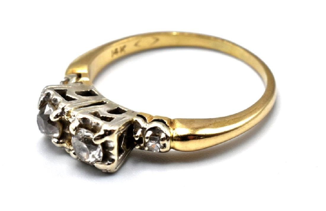 14K Gold and Diamond Lady's Ring - 3