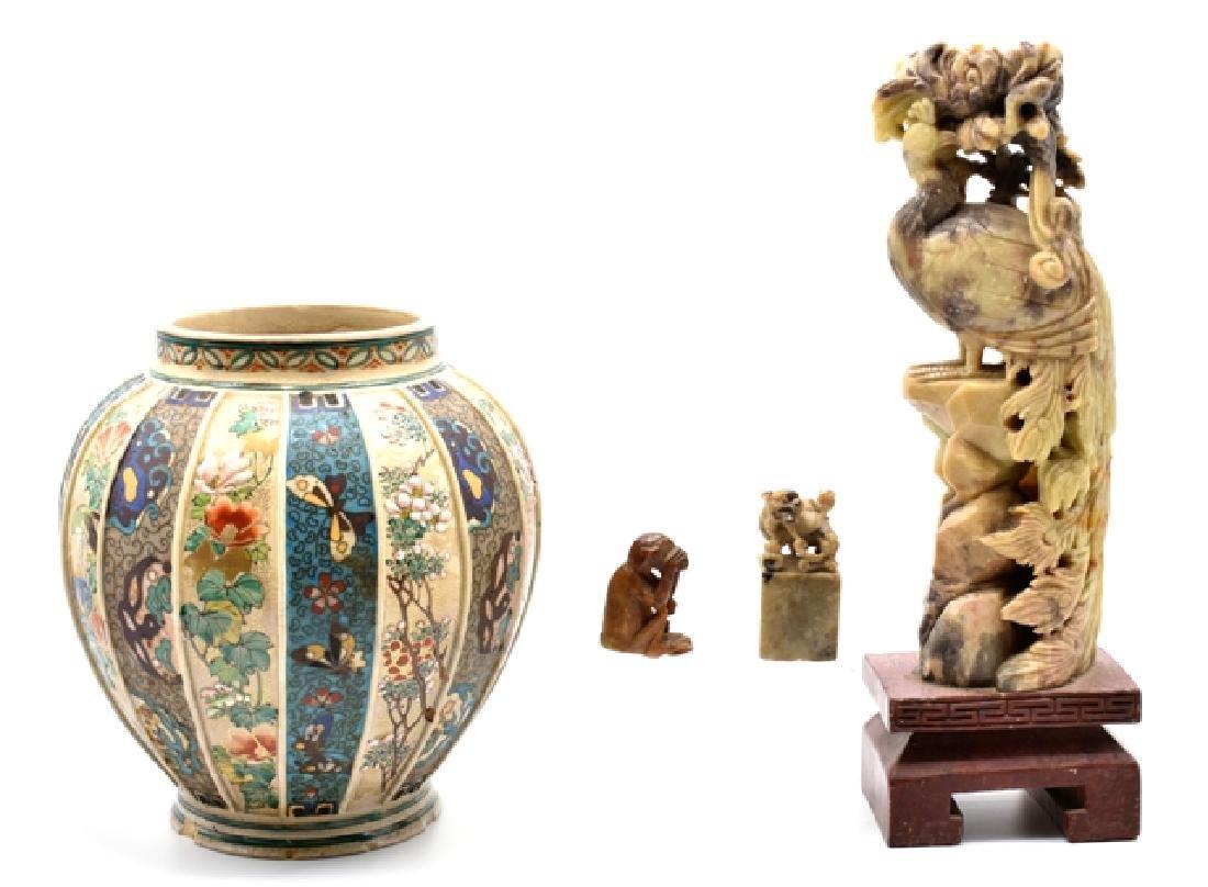 Soapstone Carvings & Imari Vase