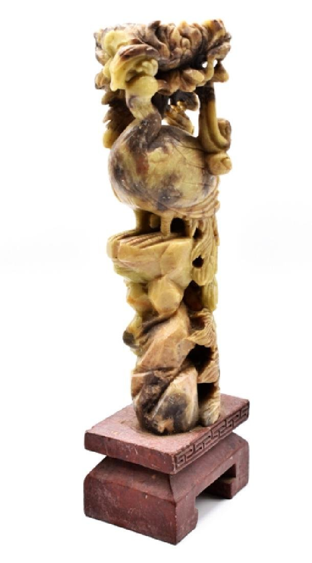 Soapstone Carvings & Imari Vase - 2