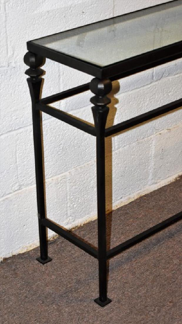 Glass Top Console Table - 2