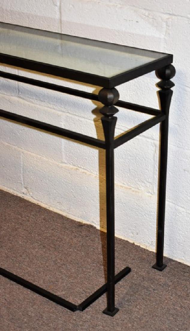 Glass Top Console Table - 3