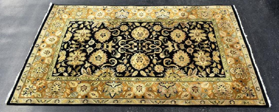 Indian Wood Room Sized Rug