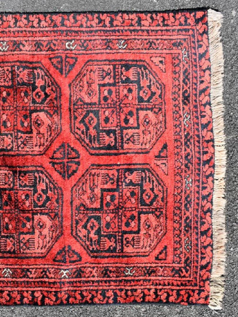 Turkoman Wool Throw Rug - 3