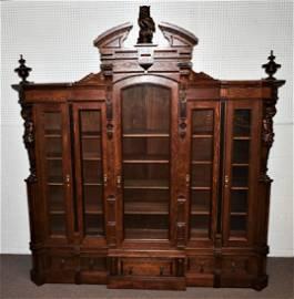 Horner Monumental carved Owl Bookcase