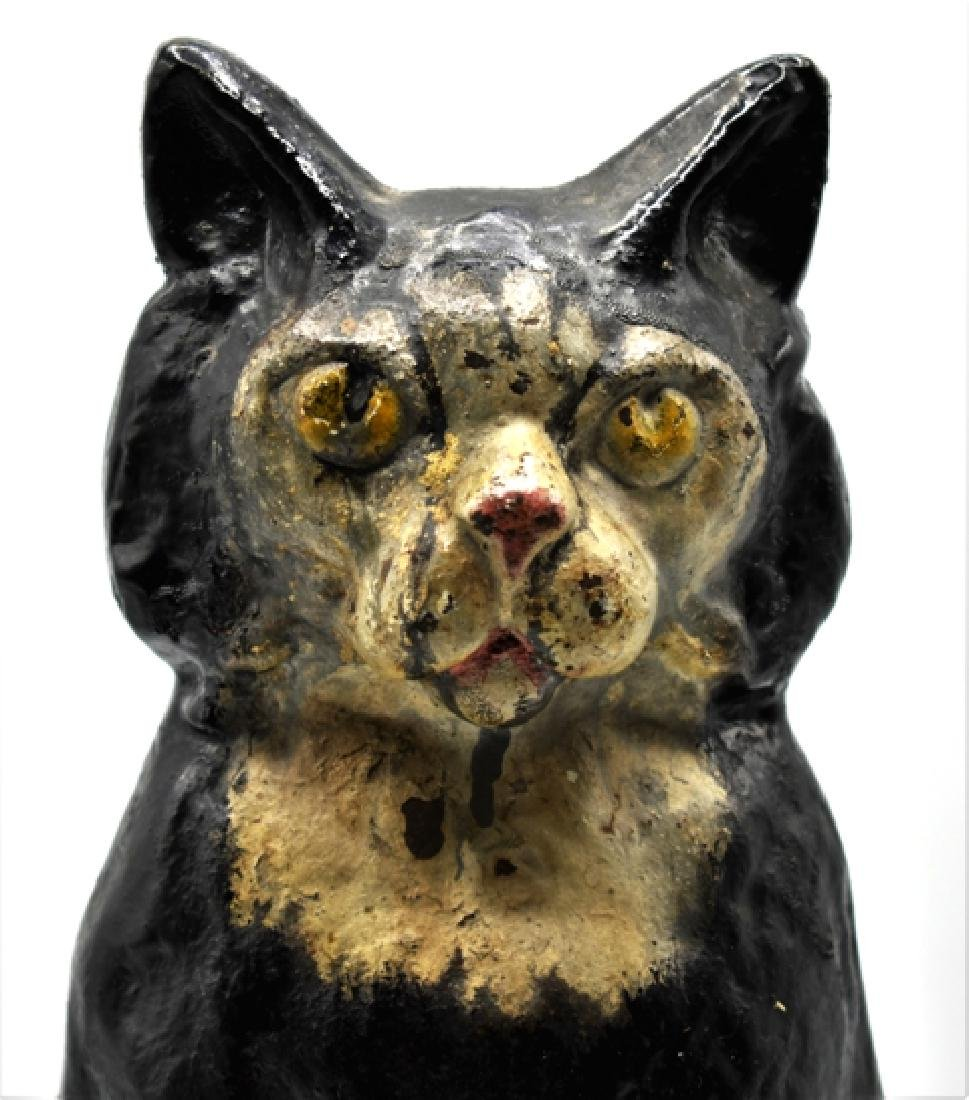 Antique Cast Iron Cat Doorstop - 2