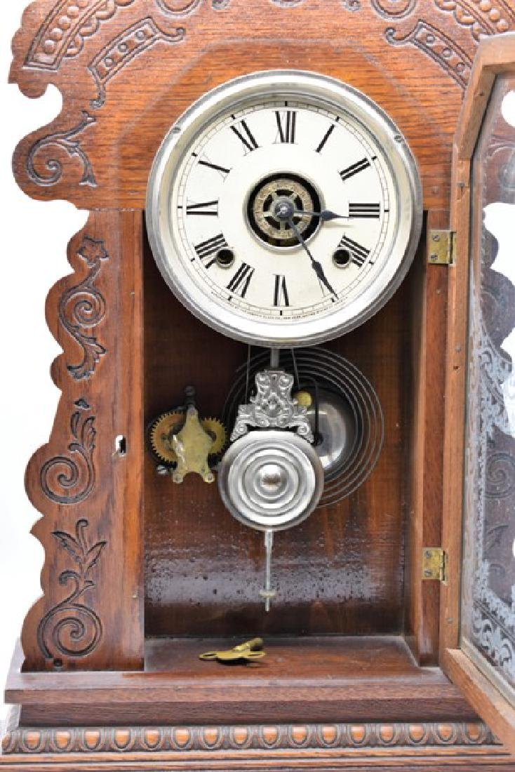 Antique Ansonia Kitchen Clock With Alarm - 2