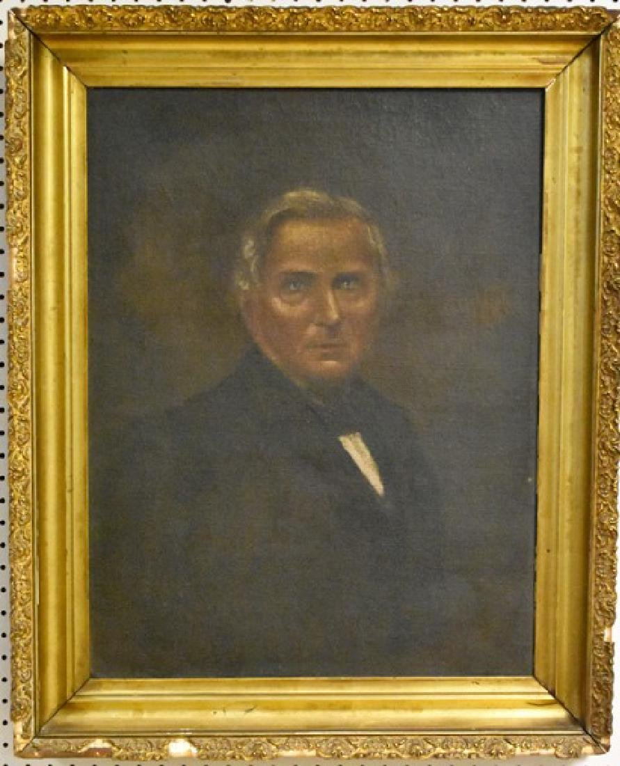 19th Century Gentleman's Portrait Oil Painting