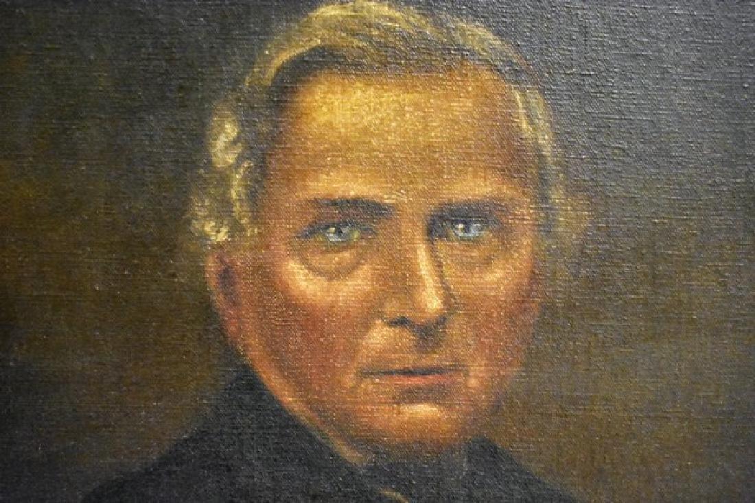 19th Century Gentleman's Portrait Oil Painting - 2