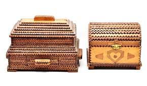 Pair of Tramp Art Boxes