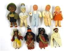 Vintage Small Dollhouse Dolls