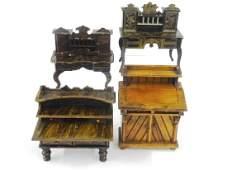 Antique German Dollhouse Desks Miniatures