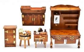 Frank Preene Dollhouse Kitchen Furniture Miniatures