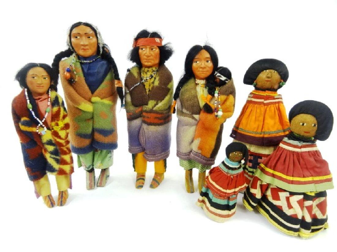 Four Vintage Skookum Dolls & Others