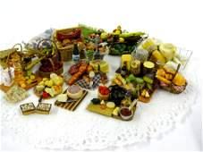 Dollhouse Artisan Foods & Trays Miniatures