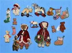 Artisan Xmas Dollhouse Bears & Other Toys Miniatures