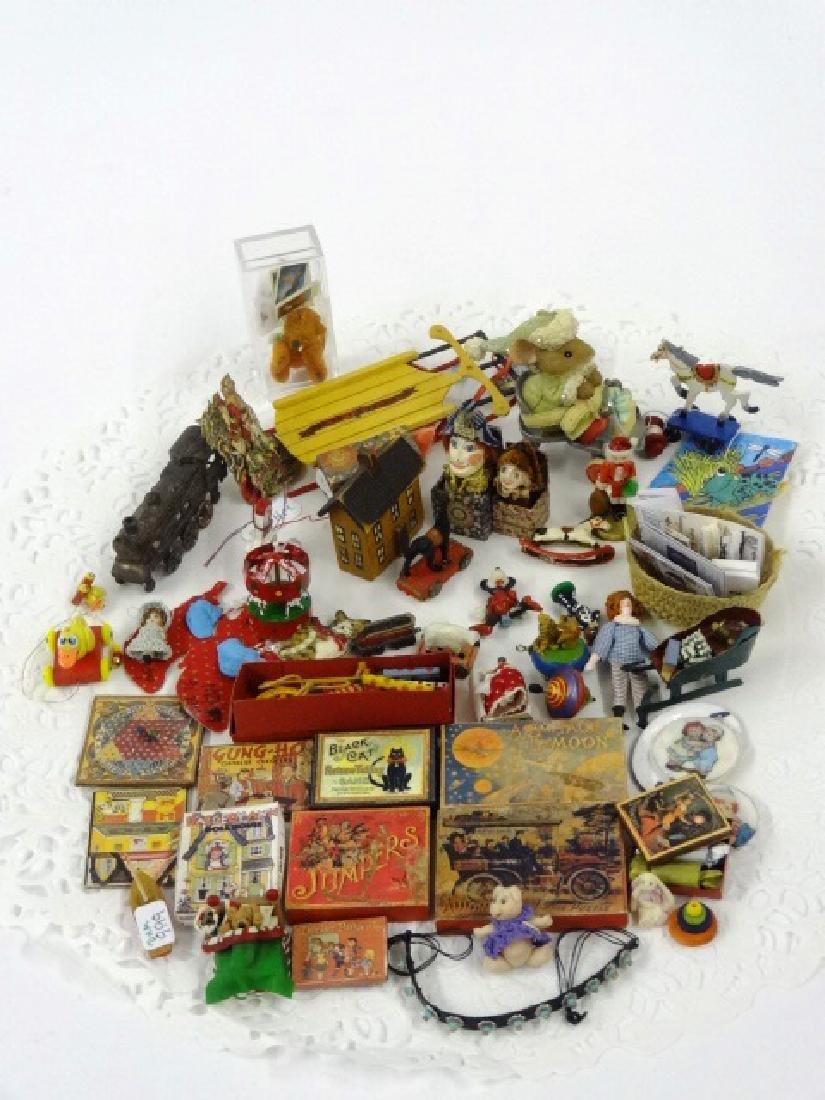 Large Lot of Dollhouse Miniature Toys Miniatures