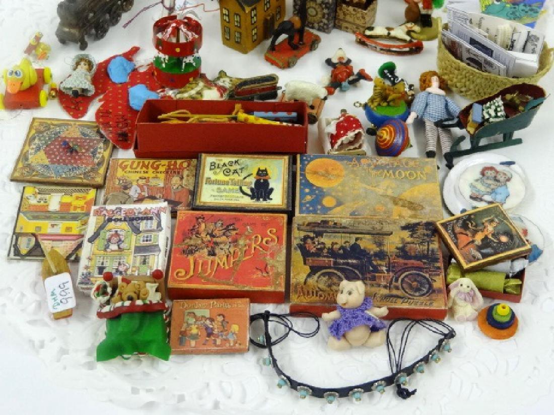 Large Lot of Dollhouse Miniature Toys Miniatures - 3