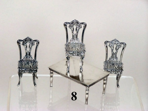 8: Continental Silver Table & Chairs