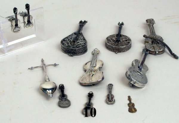 10: Continental Silver Musical Instruments