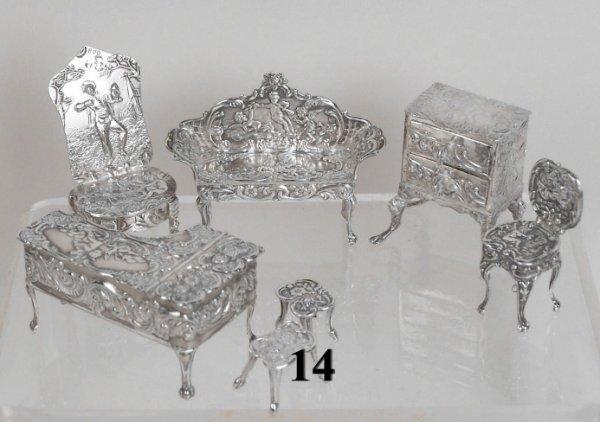 14: Continental Silver Piano & Chest