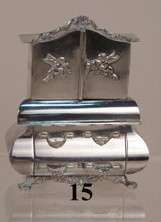 15: Continental Silver Dutch Cupboard