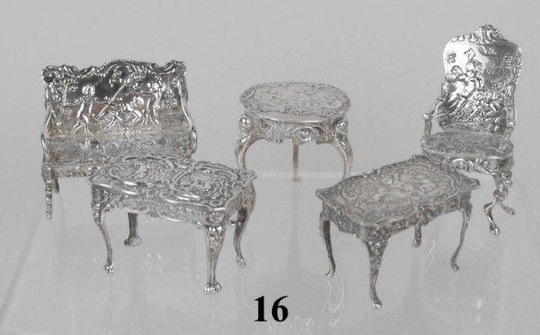 16: Continental Silver Furniture