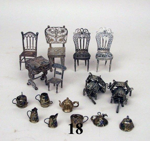 18: Continental Silver Filigree Furniture