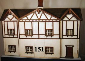 Vintage Dollhouse And Stable, Circa 1915-1920