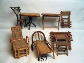 Vintage Dollhouse Porch Furniture