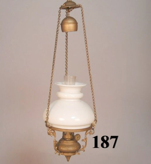 "187: Vintage Miniature ""Country Store"" Chandelier (Sale"