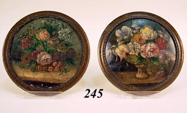 245: Miniature Paintings on Tin Flowers